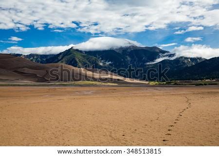 Great Sand Dunes National Park, Summer 2015 - stock photo