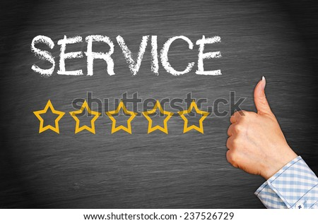 Great Service - Five Stars - stock photo
