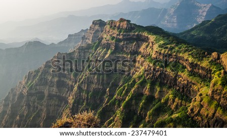 Great slop seen from Arthur's Seat  - stock photo