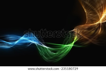 great smoke colored blend waves abstract background - stock photo