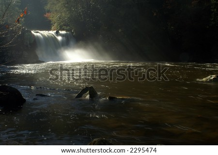 Great Smoky Mountains National Park - Abrams Falls - stock photo