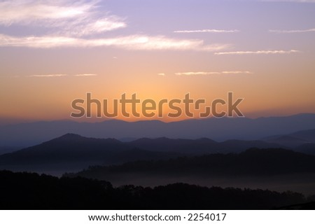 Great Smoky Mountains National Park Landscape - stock photo