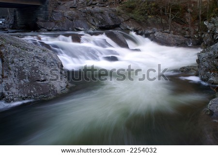 Great Smoky Mountains National Park - The Sink Waterfall - stock photo