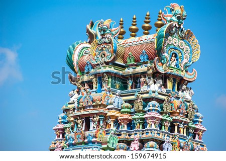 Great South Indian architecture, Meenakshi Temple in Madurai. South India, Tamil Nadu, Madurai