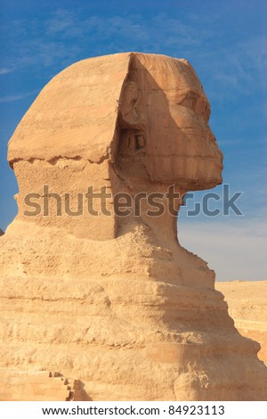 Great Sphinx of Giza, the largest monolith statue, and the oldest known monumental sculpture in the world