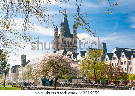 Great St. Martin Church, Cologne, Germany - stock photo