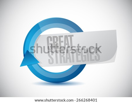 great strategies cycle sign illustration design over a white background - stock photo