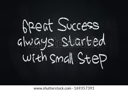 Great Success Quotes, written with Chalk on Blackboard - stock photo