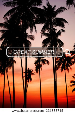 Great Summer Beach Enjoyment Freedom Fun Concept - stock photo