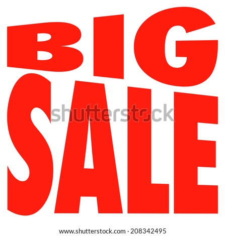 Great Summer Sale logo illustration isolated on white - stock photo
