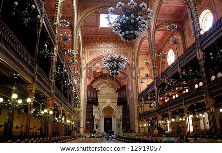 Great Synagogue in Budapest is the second biggest in the world - stock photo