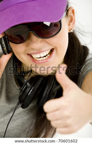 great teenage showing ok sign - stock photo