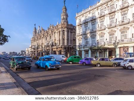 Great Theatre, old town, Havana, Cuba - stock photo