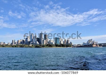 Great View of Sydney Skyline - stock photo