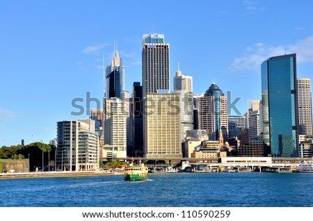 Great View of Sydney Skyline at Circular Quay