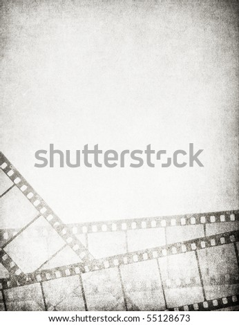 Great vintage filmstrips background - with space for your text and image. - stock photo