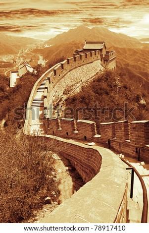 Great wall of Beijing,China - stock photo