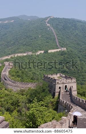 Great Wall of China at Mutianyu - stock photo