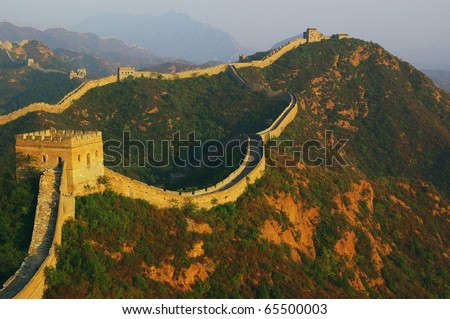 Great Wall of China in jinshanling, Hebei Province - stock photo