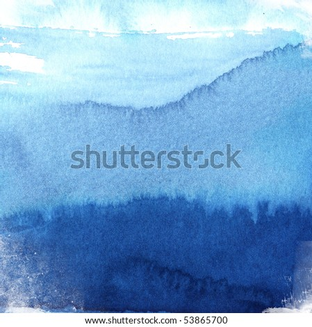 great watercolor background - watercolor paints on a rough texture paper - stock photo