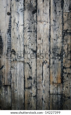 Great wooden background with lots of character - stock photo