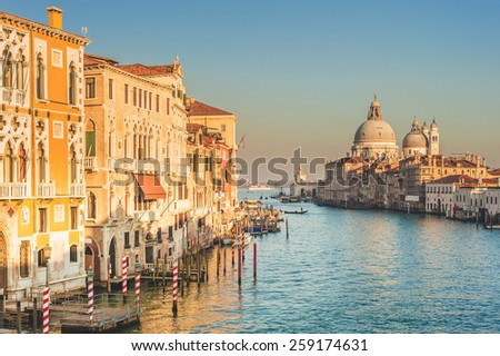 Greatest place of love and beauty of art on the ground in Venice, Italy - stock photo