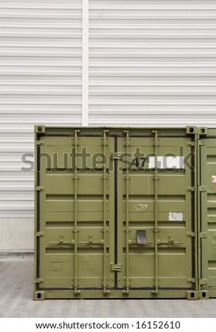gree cargo container - stock photo