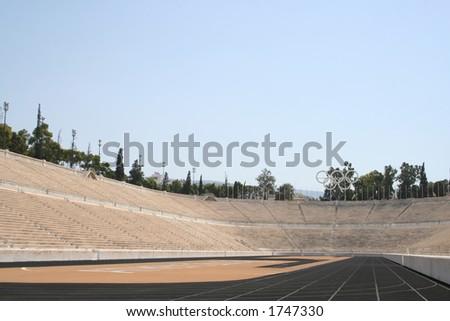 greece athens stadium - stock photo