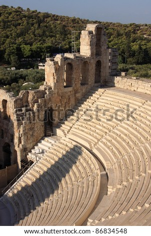 Greece Athens The Acropolis archaeological site -  UNESCO World Heritage site Theater of Dionysus Eleuthereus