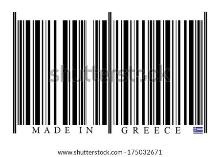 Greece Barcode on white background
