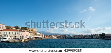 GREECE, CHANIA - MAY, 21. 2016: Port of Chania at a sunny afternoon. Illustrative Editorial.