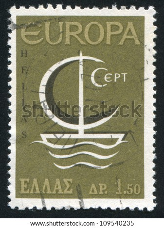 GREECE - CIRCA 1966: stamp printed by Greece, shows Europa CEPT, circa 1966