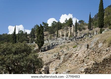 Greece, Delphi, Peloponnese - stock photo