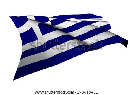 Greece flag - collection no_5  - stock photo