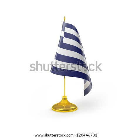 Greece Flag Detail Render - stock photo