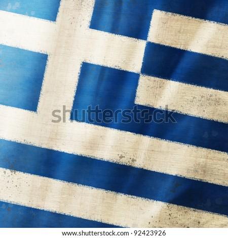 Greece flag ,grunge and retro flag series - stock photo