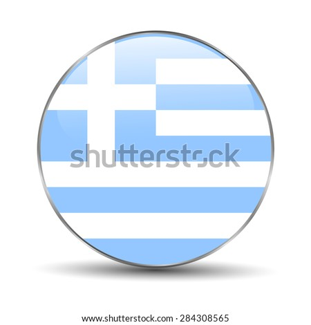 Greece Flag Icon  - stock photo