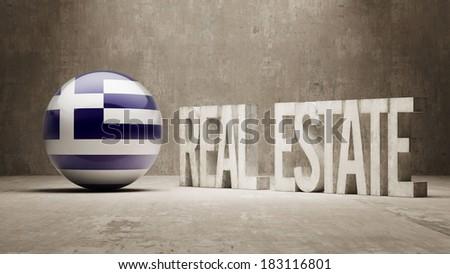 Greece High Resolution Real Estate Concept - stock photo