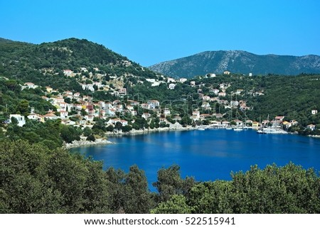 Greece,island Ithaki-view of the Kioni