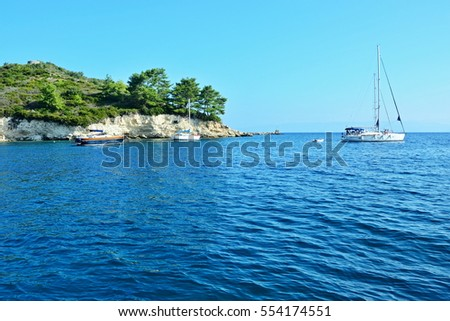 Greece,island Paxos-view from the harbor Loggos