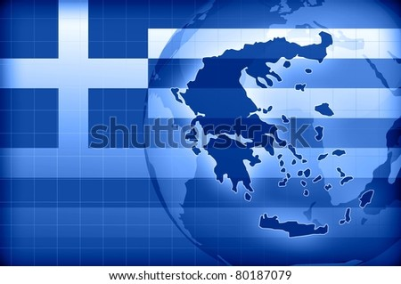 greece news background information - stock photo