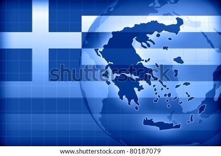 greece news background information - stock photo