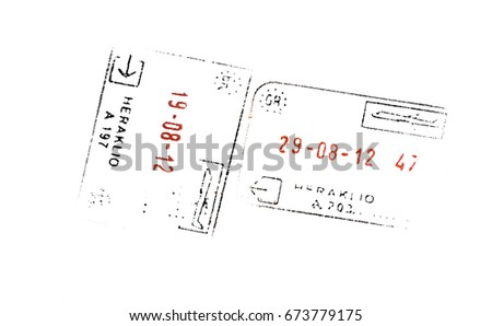 Greece passport stamp stock illustration 677338660 shutterstock greece passport stamps ccuart Choice Image