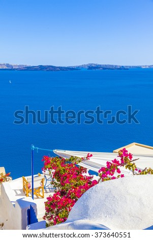 Greece Santorini - stock photo