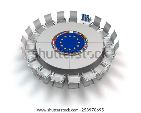 greece turns it's back on the european union - stock photo