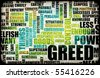 Greed is Good as an Evil Concept Background - stock photo