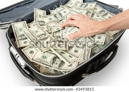 [CCXP 2015]Anúncios e Novidades. - Página 4 Stock-photo-greed-lot-of-money-in-a-suitcase-with-hand-43493815