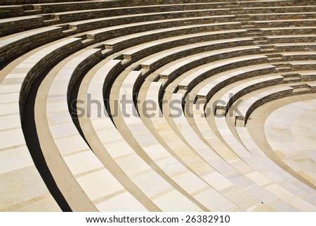Greek Amphitheatre Seats - stock photo