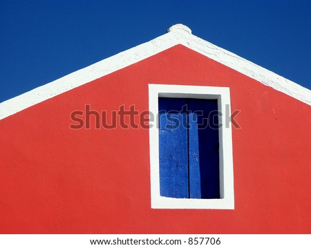 Greek building, Fiscardo, Cephalonia - stock photo