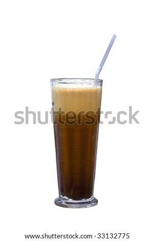 """Greek cold coffee called """"Frappe"""" - stock photo"""